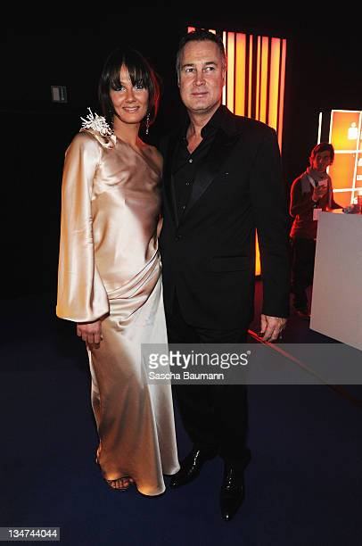 Franziska van Almisck and husband Juergen B Harder attend the Bambi Awards 2008 Party on November 27 2008 in Offenburg Germany