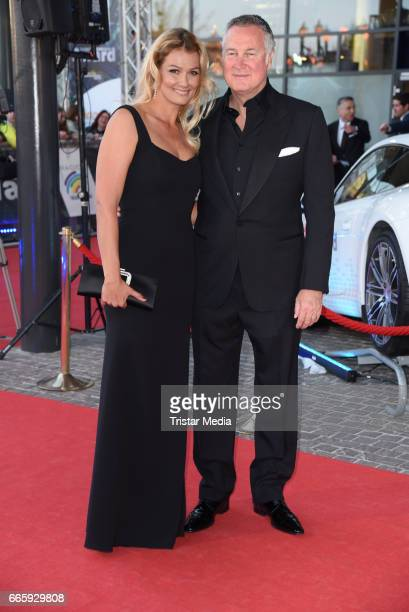 Franziska van Almsick and boyfriend Juergen B. Harder attend the Radio Regenbogen Award 2017 at Europa-Park on April 7, 2017 in Rust, Germany.
