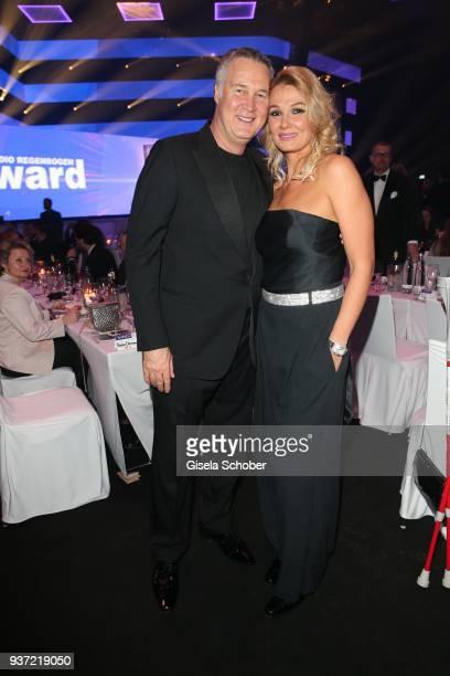 Franziska van Almsick and her boyfriend Juergen B. Harder during the Radio Regenbogen Award 2018 at Europapark Rust on March 23, 2018 in Rust,...