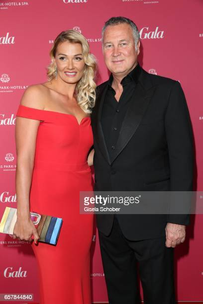 Franziska van Almsick and her partner Juergen B Harder during the Gala Spa Awards at Brenners ParkHotel Spa on March 25 2017 in BadenBaden Germany