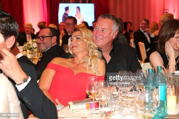 Franziska van Almsick and her partner Juergen B. Harder during the Gala Spa Awards at Brenners Park-Hotel & Spa on March 25, 2017 in Baden-Baden,...