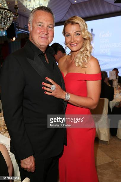 Franziska van Almsick and her partner Juergen Harder during the Gala Spa Awards at Brenners ParkHotel Spa on March 25 2017 in BadenBaden Germany