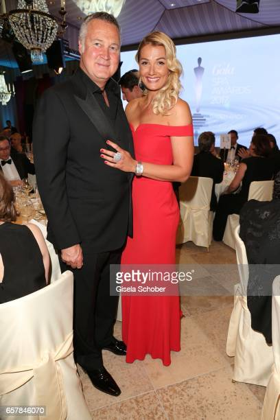 Franziska van Almsick and her partner Juergen Harder during the Gala Spa Awards at Brenners Park-Hotel & Spa on March 25, 2017 in Baden-Baden,...