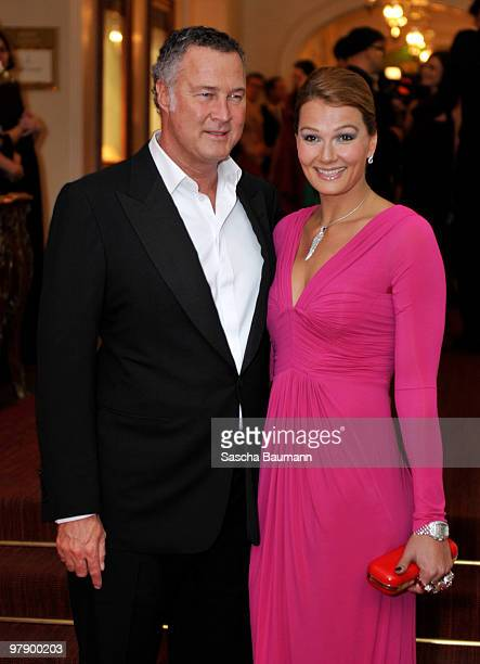 Franziska van Almsick and husband Juergen B. Harder attend the Gala Spa Awards at Brenner's Park Hotel on March 20, 2010 in Baden Baden, Germany.