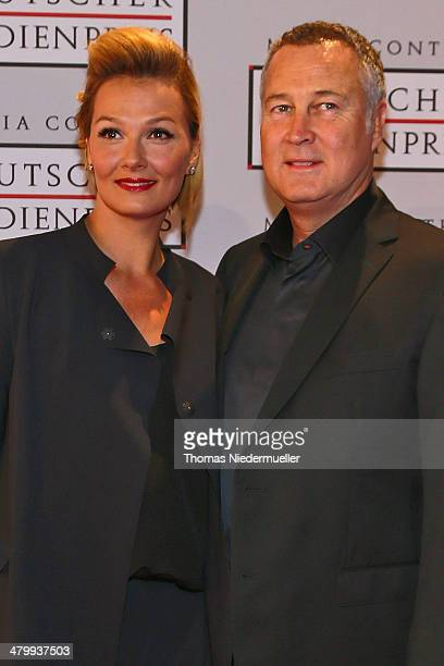 Franziska van Almsick and Juergen B Harder attend the German Media Award on March 21 2014 in BadenBaden Germany The German Media Awards was created...