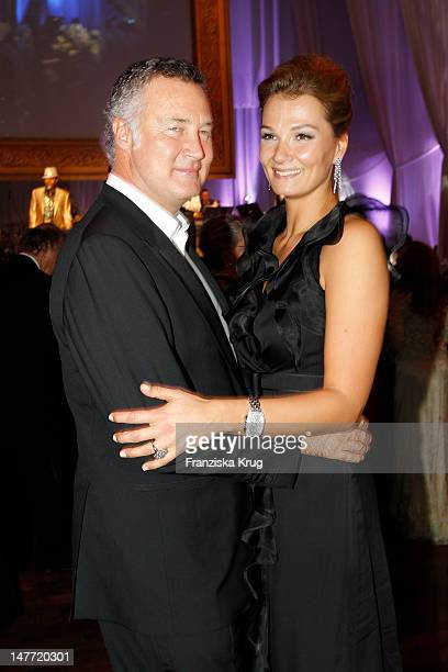 Franziska van Almsick and Juergen B Harder attend the German Opera Ball 2012 at the Alte Oper on February 25 2012 in Frankfurt Germany