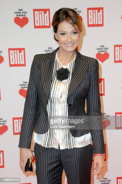 Franziska van Almsick attends 'Ein Herz Fuer Kinder Gala 2012' Red Carpet Arrivals at Axel Springer Haus on December 15 2012 in Berlin Germany