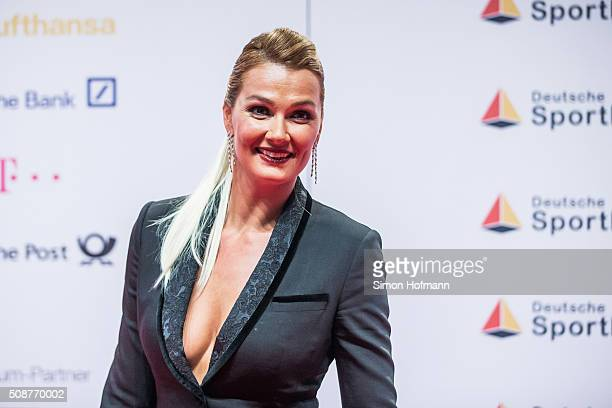 Franziska van Almsick attends German Sports Gala 'Ball des Sports 2016' on February 6 2016 in Wiesbaden Germany