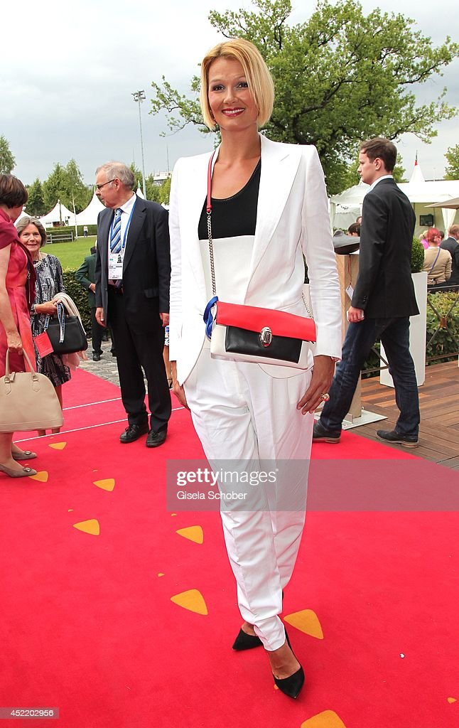 Franziska van Almsick attends the CHIO 2014 media night on July 15, 2014 in Aachen, Germany.