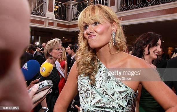 Franziska van Almsick attends the Diva Award 2011 at Hotel Bayerischer Hof on January 25 2011 in Munich Germany