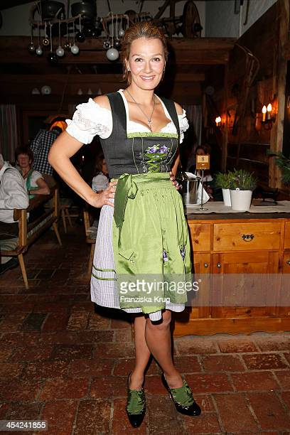 Franziska van Almsick attends the Dorfstadl Evening Tirol Cross Mountain 2013 on December 07 2013 in Innsbruck Austria