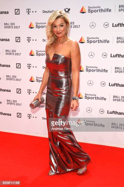 Franziska van Almsick attends the German Sports Gala 'Ball des Sports 2017' on February 4 2017 in Wiesbaden Germany