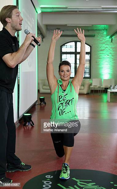 Franziska van Almsick attends the mybode Online Fitness Portal press conference on October 25 2013 in Cologne Germany