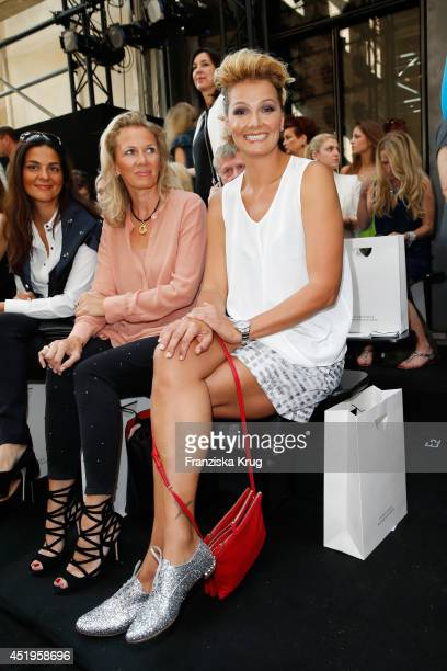 Franziska van Almsick attends the Schumacher show during the MercedesBenz Fashion Week Spring/Summer 2015 at Sankt Elisabeth Kirche on July 10 2014...
