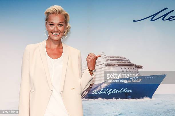 Franziska van Almsick during the naming ceremony of the cruise ship 'Mein Schiff 4' on June 5 2015 in Kiel Germany