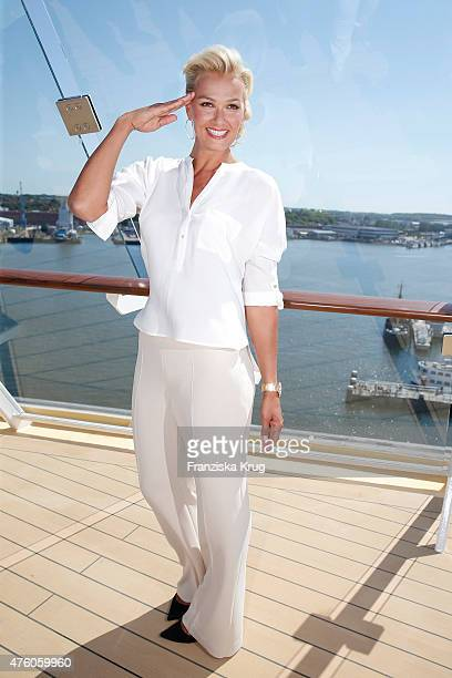 Franziska van Almsick during the naming ceremony of the cruise ship 'Mein Schiff 4' on June 5 2015 in Kiel Germany