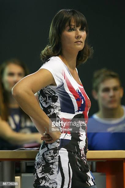 Franziska van Almsick is seen during the German Swimming Championship 2009 at the Eurosportpark on June 28 2009 in Berlin Germany