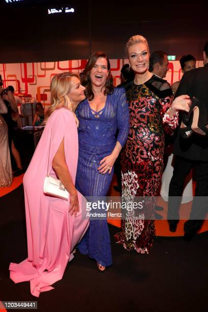 Franziska van Almsick Katarina Witt and Maria HoeflRiesch attend the Ball des Sports 2020 gala at RheinMain CongressCenter on February 01 2020 in...