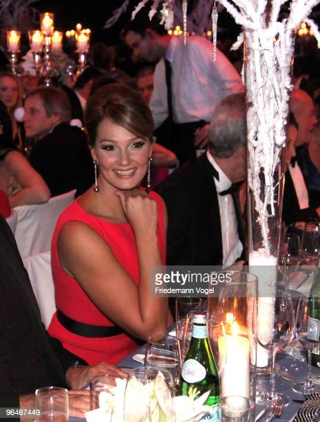 Franziska van Almsick sits at the 2009 Sports Gala 'Ball des Sports' at the RheinMain Hall on February 6 2010 in Wiesbaden Germany