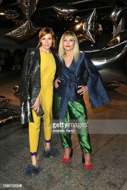 Franziska Weisz and Anna Los attend the Dawid Tomaszewski Defile during the Berlin Fashion Week Autumn/Winter 2019 on January 16 2019 in Berlin...