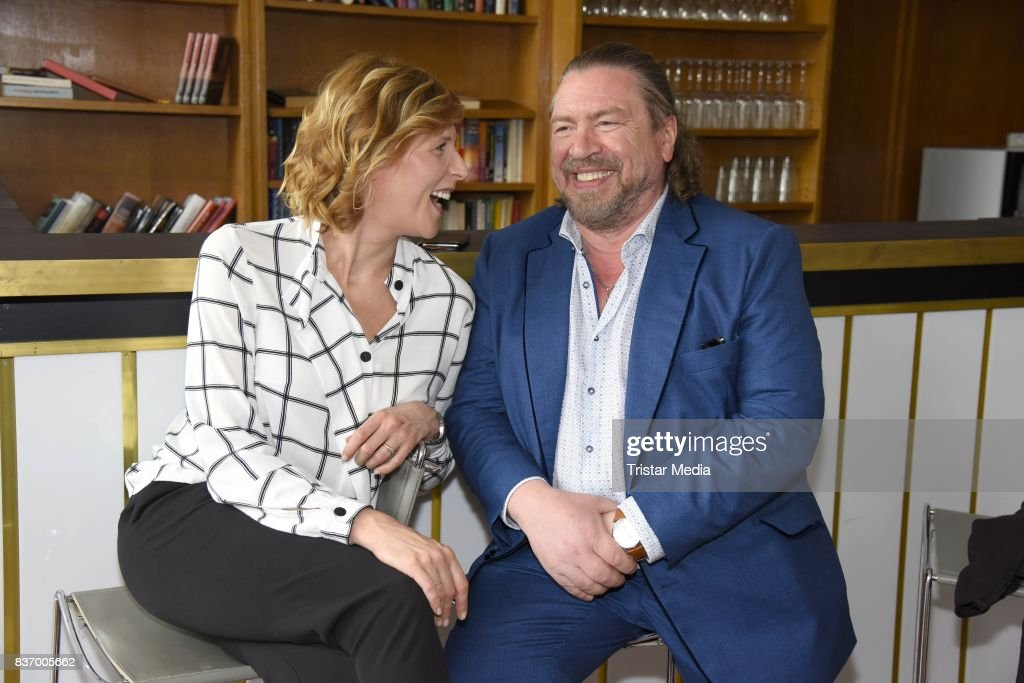 Franziska Weisz and Armin Rohde during the RTL Event Movie 'Das Joshua-Profil' Photocall In Berlin on August 22, 2017 in Berlin, Germany.