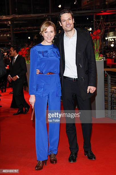 Franziska Weisz and Felix Herzogenrath attend the Closing Ceremony of the 65th Berlinale International Film Festival on February 14 2015 in Berlin...