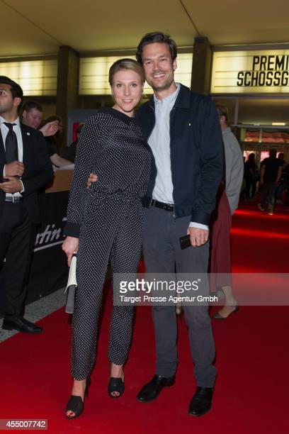 Franziska Weisz and her boyfriend Felix Herzogenrath attend the Berlin premiere of the film 'Schossgebete' at Kino International on September 8 2014...