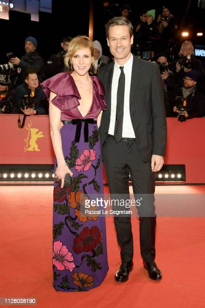 "Franziska Weisz and her husband Felix Herzogenrath attend the ""The Kindness Of Strangers"" premiere during the 69th Berlinale International Film..."