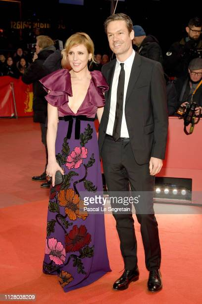 Franziska Weisz and her husband Felix Herzogenrath attend the The Kindness Of Strangers premiere during the 69th Berlinale International Film...