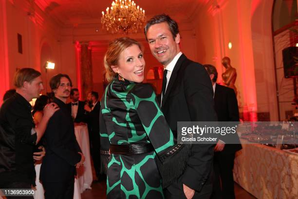 Franziska Weisz and her husband Felix Herzogenrath during the ROMY award at Hofburg Vienna on April 13 2019 in Vienna Austria