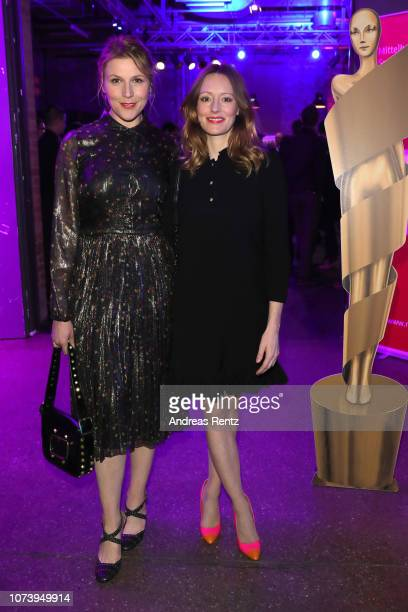 Franziska Weisz and Lavinia Wilson attend the German Short Film Award at Waschhaus Potsdam on November 28 2018 in Potsdam Germany