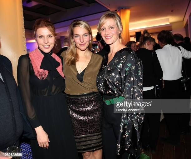 Franziska Weisz and Tanja Wedhorn and Anna Schudt during the ARD advent dinner hosted by the program director of the tv station Erstes Deutsches...