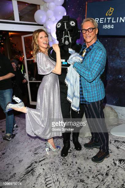 Franziska Weisz and Wolfgang Joop during the PLACE TO B Berlinale party of BILD at Borchardt Restaurant on February 9 2019 in Berlin Germany