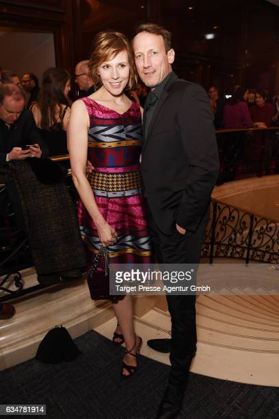 Franziska Weisz and Wotan Wilke Moehring attend the Medienboard BerlinBrandenburg Reception during the 67th Berlinale International Film Festival...