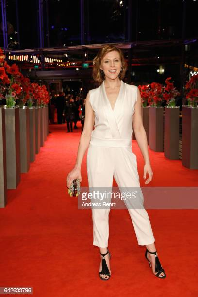 Franziska Weisz arrives for the closing ceremony of the 67th Berlinale International Film Festival Berlin at Berlinale Palace on February 18, 2017 in...