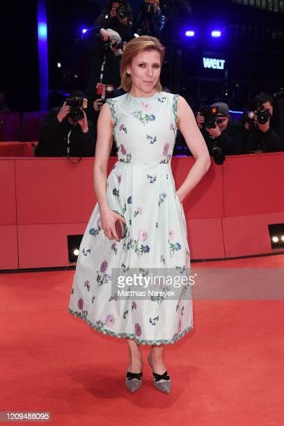 Franziska Weisz arrives for the closing ceremony of the 70th Berlinale International Film Festival Berlin at Berlinale Palace on February 29, 2020 in...