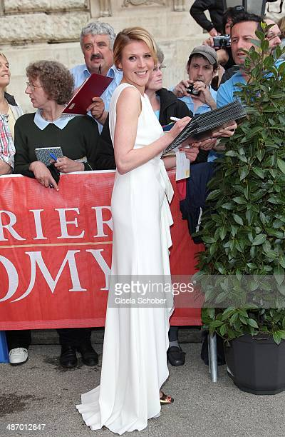 Franziska Weisz attends the 25th Romy Award 2014 at Hofburg Vienna on April 26 2014 in Vienna Austria