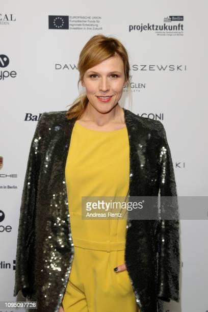 Franziska Weisz attends the Dawid Tomaszewski Defile during the Berlin Fashion Week Autumn/Winter 2019 on January 16 2019 in Berlin Germany