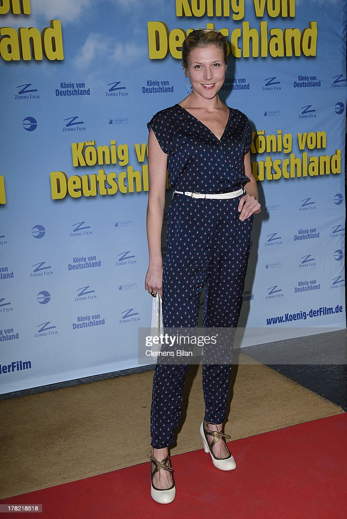 Franziska Weisz attends the 'Koenig von Deutschland' Berlin premiere at Kino International on August 27, 2013 in Berlin, Germany.