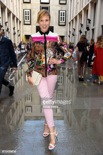 Franziska Weisz attends the Marina Hoermanseder show during the Berliner Mode Salon Spring/Summer 2018 at Kronprinzenpalais on July 7 2017 in Berlin...