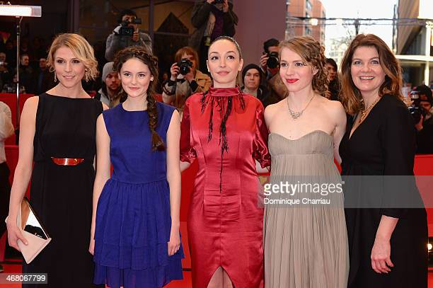 Franziska Weisz Lea van Acken Lucie Aron Anna Brueggemann and Birge Schade attends the 'Stations of the Cross' premiere during 64th Berlinale...