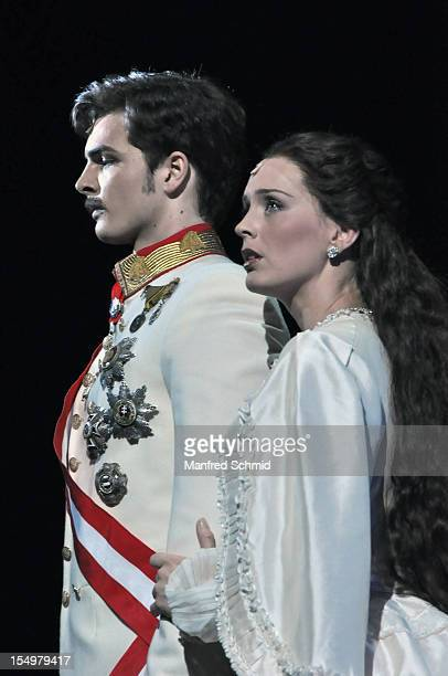 Franziskus Hartenstein Annemieke Van Dam attend the rehearsal of musical 'Elisabeth' at the Raimund Theater An audience of 85 million people in 9...