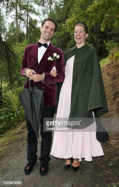 Franziskus von Boch and Annina von Pfuel during the wedding of Prince Konstantin of Bavaria and Princess Deniz of Bavaria born Kaya at the french...