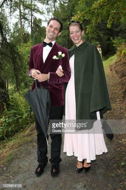 Franziskus von Boch and Annina von Pfuel during the wedding of Prince Konstantin of Bavaria and Princess Deniz of Bavaria born Kaya at the french...