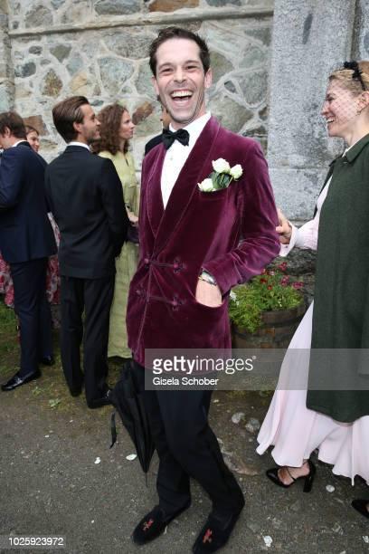 Franziskus von Boch during the wedding of Prince Konstantin of Bavaria and Deniz Kaya at the french church 'Eglise au Bois' on September 1 2018 in St...