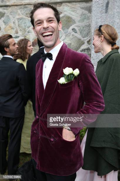 Franziskus von Boch during the wedding of Prince Konstantin of Bavaria and Deniz Kaya at the french church 'Eglise au Bois' on September 1 2018 in St...
