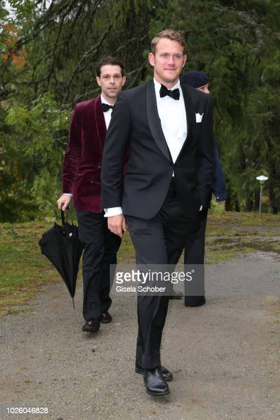 Franziskus von Boch Moritz Flick son of Christian Flick during the wedding of Prince Konstantin of Bavaria and Deniz Kaya at the french church...