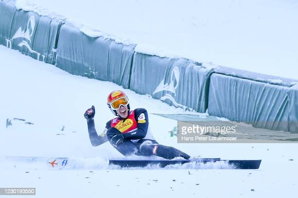 Franz-Josef Rehrl of Austria competes during the Men's Gundersen Normal Hill HS98/10.0 Km Qualifikation at the FIS Nordic Combined World Cup at WM...