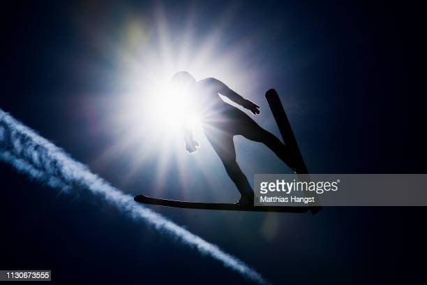 FranzJosef Rehrl of Austria jumps during the ski jumping training for the Nordic Combined ahead of the FIS Nordic World Ski Championships on February...