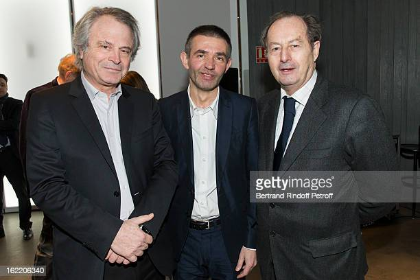 Franzolivier Giesbert Jury Member Philippe Lancon Prize Laureate And Jeanmarie Rouart Jury Member Attend The Prize